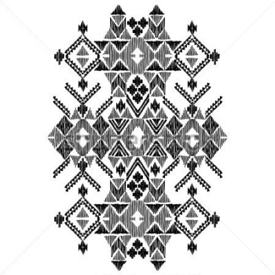 Sticker Vector black and white decorative ethnic pattern. American indian motifs. Hand drawn background, aztec tribal ornament. Print for fashion, textile, paper and cover. Line illustration