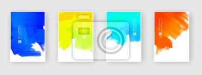 Sticker Vector design elements template for business brochure.