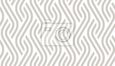 Sticker Vector geometric diagonal fabric waves seamless texture. Cream colour background.