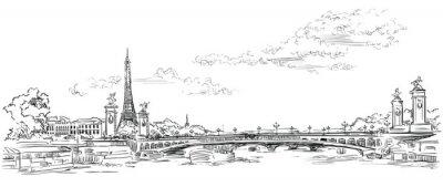 Sticker Vector hand drawing Paris 4