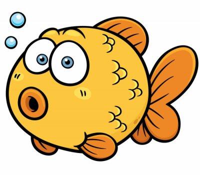 Sticker Vector illustration de Goldfish