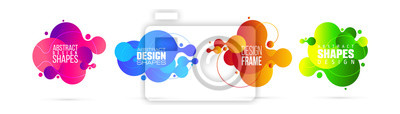 Sticker vector illustration. modern organic liquid. graphic frame design for text.