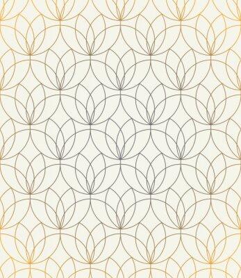 Sticker Vector seamless pattern. Ornement avec des fleurs stylisées. Fond géométrique élégant. Texture récurrente moderne. Design graphique moderne.