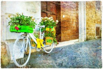 Sticker Vélo floral vintage - décoration de rue charmante