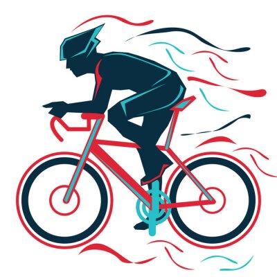 Sticker vélo, vélo, sports