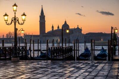 Sticker Venezia, alba et chiesa di S. Giorgio