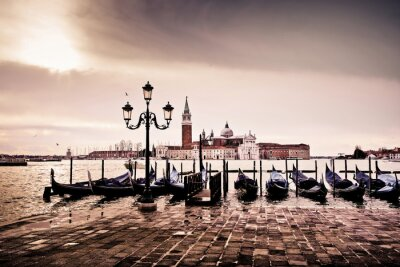 Sticker Venise gondole romantique amour amoureux lagune