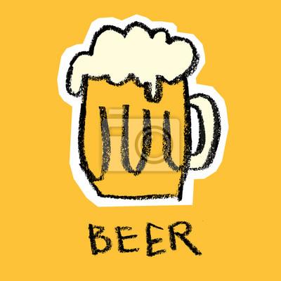 Verre, bière, jaune, fond