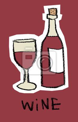 Verre, bouteille, rouge, vin, rouges, fond