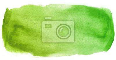 Sticker Vert aquarelle tache de texture avec des taches de couleur de l'eau et de la peinture humide