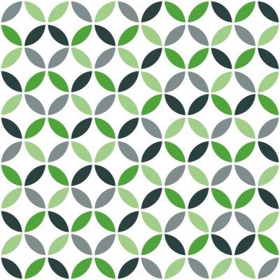 Sticker Vert, géométrique, retro, seamless, modèle