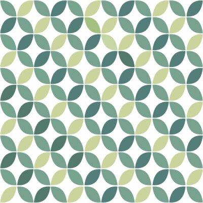 Sticker Vert motif géométrique rétro seamless