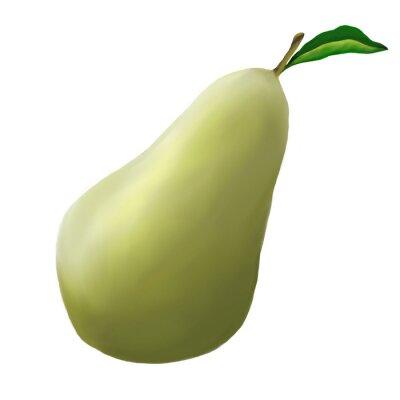 Sticker Vert, poire, blanc, fond