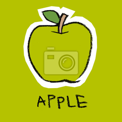 Vert, pomme, vert, fond