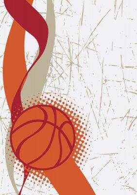 Sticker Vertical, basket-ball, affiche. Résumé, fond