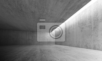 Vide, béton, salle, éclairage, plafond