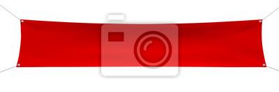 Sticker Vide, rouges, bannière, coins, corde