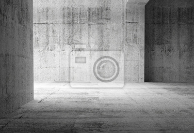 Vide sombre abstraite Chambre de béton intérieur. 3d illustration