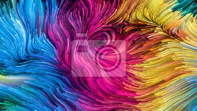 Sticker Vie virtuelle de la peinture colorée