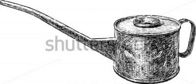 Sticker vieille bouilloire en cuivre