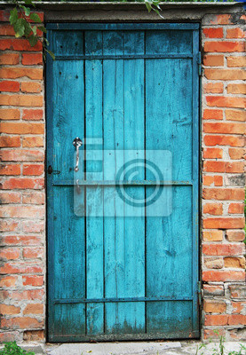 vieille porte et le mur