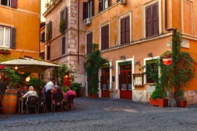 Sticker Vieille rue de Trastevere à Rome, Italie