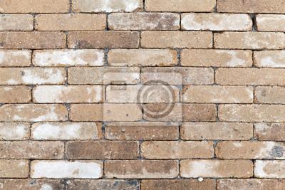 Sticker Vieille Texture De Mur De Brique Blanche Jaune Sale