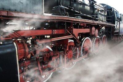 Sticker Vieilles roues de la locomotive