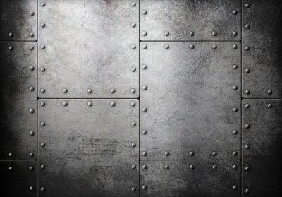Sticker Vieux, acier, métallique, fond