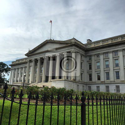 Vieux, bâtiment, DC, nuageux, fond