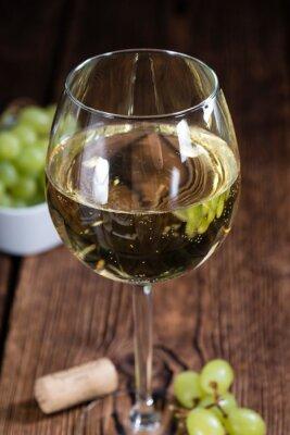 Sticker Vieux, bois, table, blanc, vin