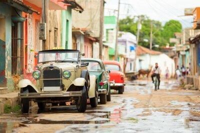Sticker Vieux, cabriolet, voiture, rue, Trinidad ...