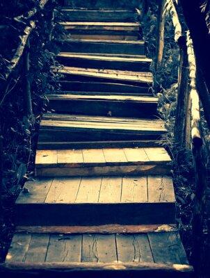 Sticker Vieux escaliers en bois