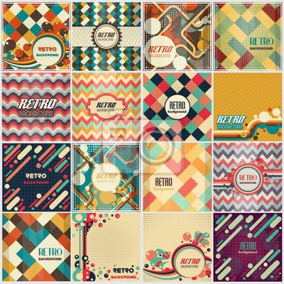 Sticker Vieux, retro, vendange, style, fond, conception, Gabarit