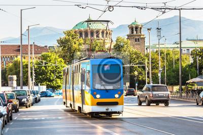 Vieux tram à Sofia, Bulgarie