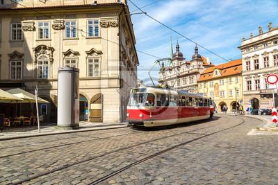 Vieux, tram, Prague