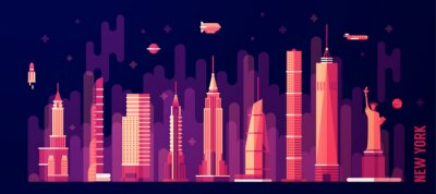 Sticker Ville, ville, Horizon, vecteur, plat, Style