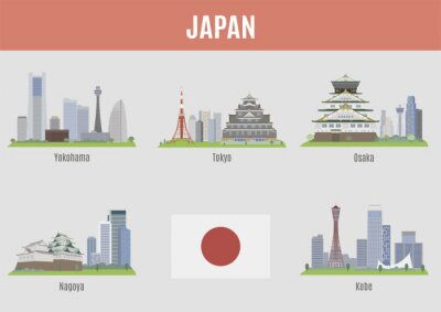 Sticker Villes au Japon