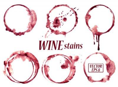 Sticker vin Aquarelle taches icônes