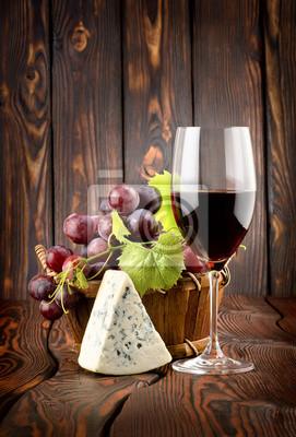 Vin et fromage bleu