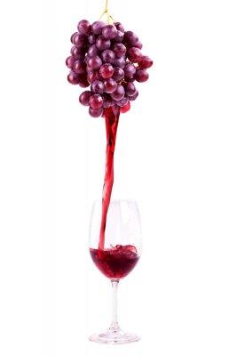Sticker Vin rouge de raisins frais