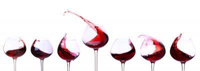 Sticker Vin rouge isolé sur fond blanc