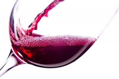 Sticker Vin rouge sur fond blanc