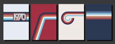 Sticker Vintage Color Lines 1970s Style