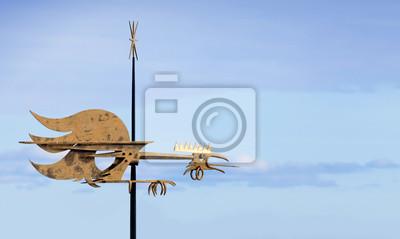Vintage girouette coq oiseau
