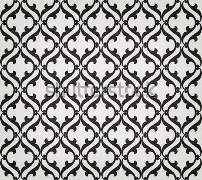 Sticker Vintage motif floral abstrait sans soudure. Intersection de feuilles et de rouleaux stylisés élégants et courbes formant un ornement floral abstrait de style arabe. Arabesque. Treillis décoratif
