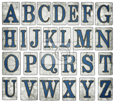 Sticker Vintage New Orleans Street tuiles Alphabet Collection
