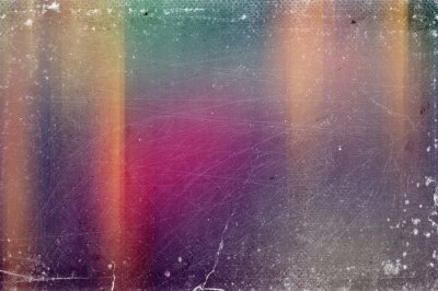 Sticker Vintage old abstract distressed blurred retro photo bokeh background with scratches, defects and light leaks