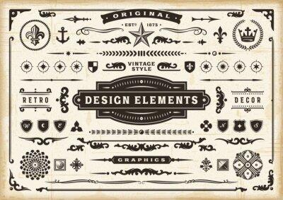 Sticker Vintage Original Design Elements Set. Editable EPS10 vector illustration in retro style with transparency.