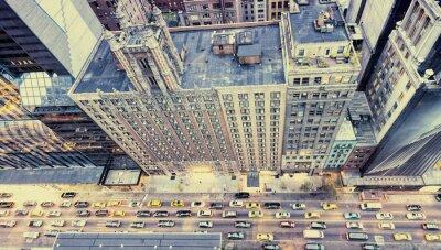 Sticker Vintage photo de New York rues de toit